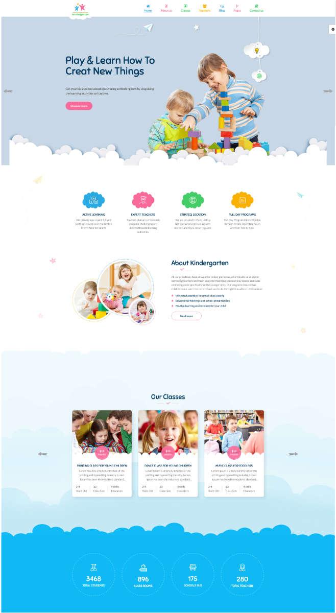 webseite fuer kindergarten haidig